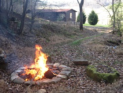 Chestnut Mountain Cabin fire pit