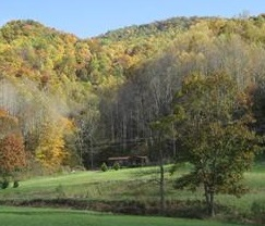 Fall view of Chestnut Mountain cove